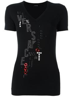 топ с абстрактной вышивкой Versace