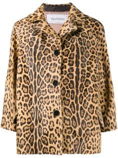 куртка с леопардовым узором Valentino