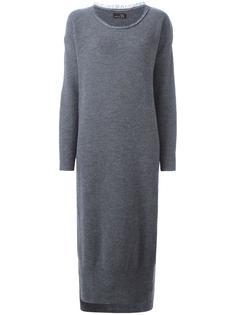 трикотажное платье с круглым вырезом Y's