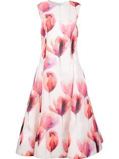 расклешенное платье с цветочным принтом Christian Siriano