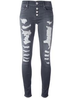 джинсы скинни с рваными деталями Hudson