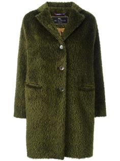 пушистое однобортное пальто Etro