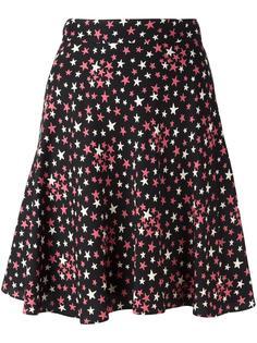 плиссированная юбка с принтом звезд Saint Laurent
