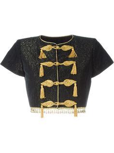 укороченная куртка в стиле милитари  Yves Saint Laurent Vintage
