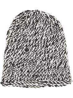 bicolour knit beanie Greg Lauren