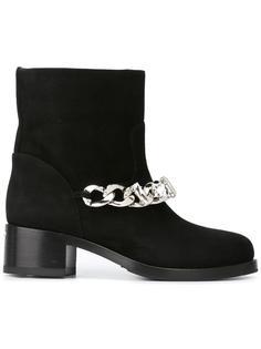ботинки с цепочной отделкой Le Silla