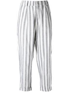 укороченные брюки в полоску Egrey