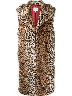 жилетка с леопардовым узором Ganni