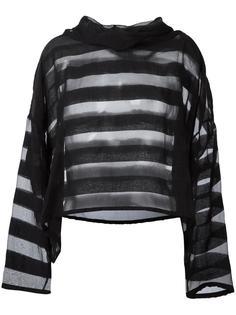 oversized sheer striped blouse  Ivan Grundahl