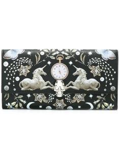 континентальный кошелек с принтом 'Nocturnal ' Alexander McQueen