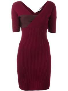 приталенное платье в рубчик Mugler