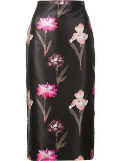 юбка-карандаш с цветочным рисунком Rochas