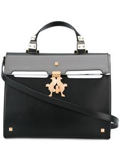 большая сумка с золотистой фурнитурой Giancarlo Petriglia