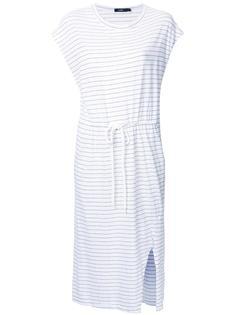 полосатое платье-футболка с эластичным поясом Bassike