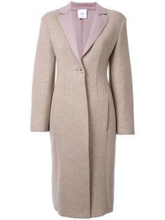 пальто с контрастными лацканами Agnona