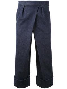 укороченные брюки со складками Fad Three