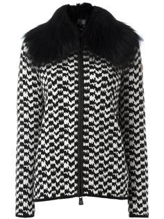 куртка с меховым воротником Moncler Grenoble