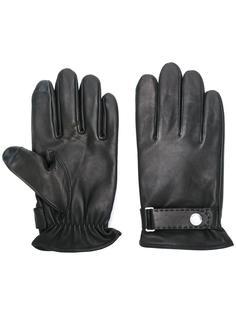 перчатки с ремешком на кнопке Polo Ralph Lauren