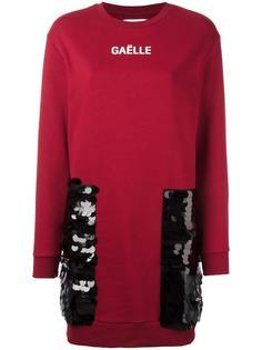 платье-толстовка с отделкой пайетками Gaelle Bonheur