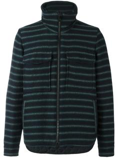 striped high neck cardigan Andrea Pompilio