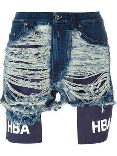 шорты с рваными деталями   Hood By Air