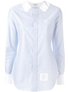 рубашка с контрастным воротником Thom Browne