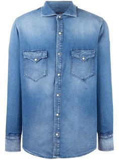 джинсовая рубашка с накладными карманами +People