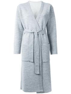 удлиненное трикотажное пальто с поясом En Route