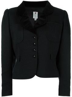 жаккардовый укороченный пиджак  Emanuel Ungaro Vintage