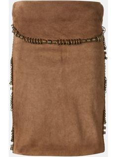 замшевая юбка Yves Saint Laurent Vintage