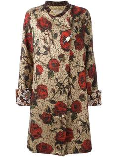 пальто с узором из роз Ermanno Gallamini