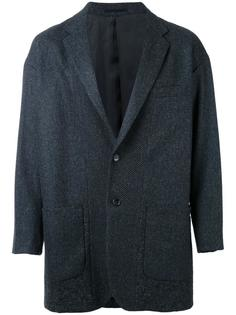однобортное пальто En Route