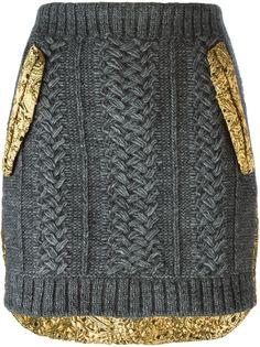 юбка с золотистым панельным дизайном  Nº21