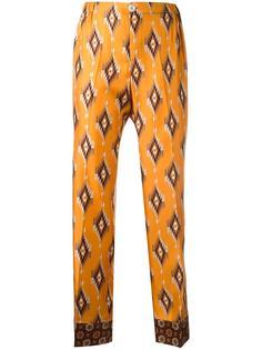 укороченные брюки с геометрическим узором For Restless Sleepers