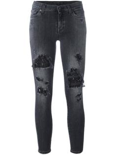 джинсы с потертой отделкой 7 For All Mankind