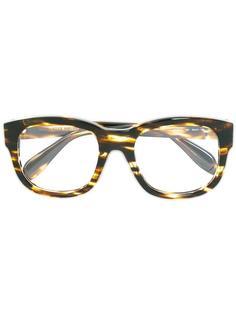очки с круглой оправой Alexander McQueen