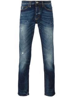 джинсы кроя слим Paolo Pecora