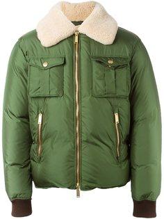 куртка-бомбер с воротником из овчины Dsquared2