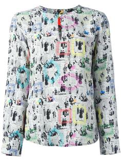 блузка с принтом 'Frames' Ultràchic
