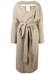длинное пальто с поясом Eckhaus Latta