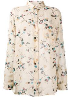 блузка с узором Ganni