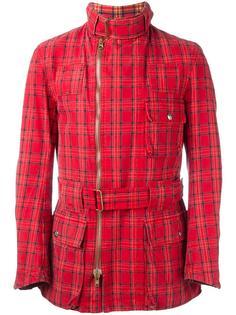 куртка в клетку с поясом Vivienne Westwood Vintage