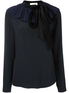 блузка с бархатным воротником Chloé