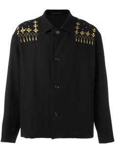 укороченное пальто с вышивкой Yohji Yamamoto Vintage