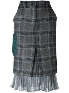 клетчатая юбка с серебристой отделкой Daizy Shely