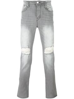 ripped slim-fit jeans Stampd