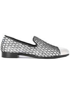 glitter embellished slippers Giuseppe Zanotti Design