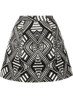 юбка А-образного силуэта с геометрическим узором Alice+Olivia