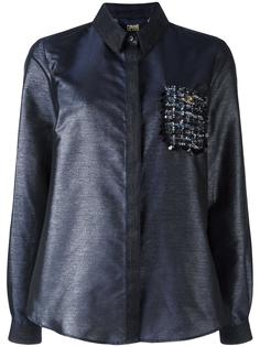 рубашка с декорированным карманом Cavalli Class