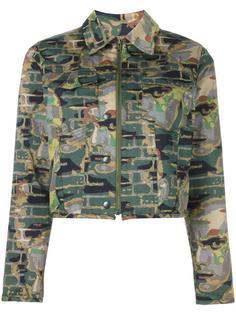 куртка с камуфляжным принтом Jean Paul Gaultier Vintage